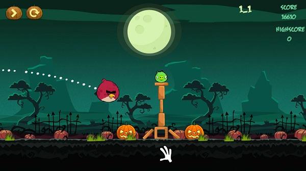 game Angry birds halloween hd