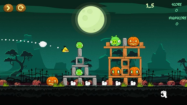 game Angry birds halloween y8 24h