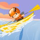 Chèo thuyền vượt thác