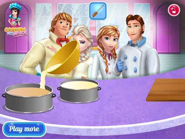 game Elsa va Anna lam banh cuoi hinh anh 2