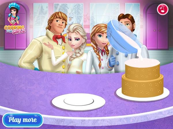 game Elsa va Anna lam banh cuoi hinh anh 3
