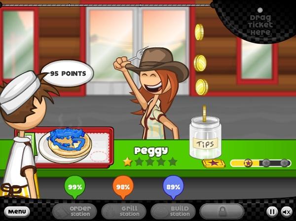 game Cua hang banh kep pancake cua Papa