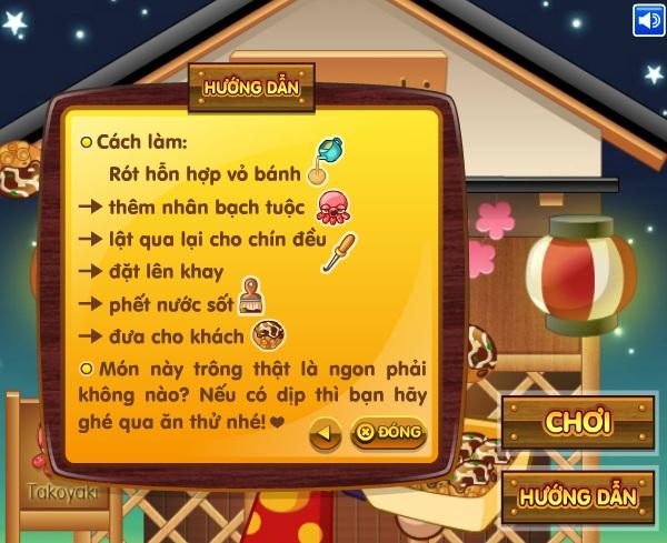 game Lam banh bach tuoc Takoyaki hinh anh 1
