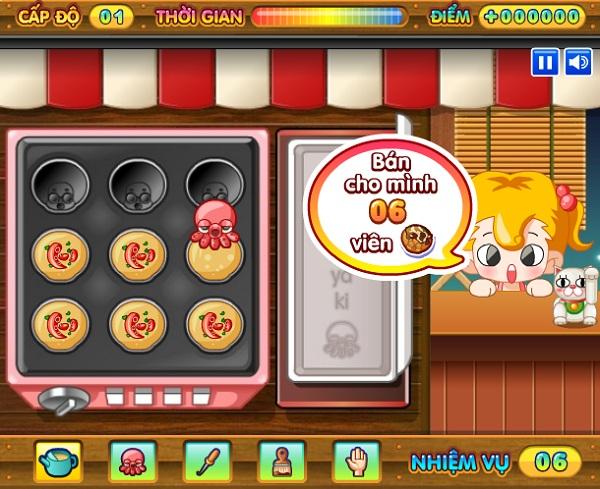 game Lam banh bach tuoc Takoyaki hinh anh 2