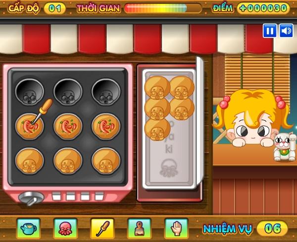 game Lam banh bach tuoc Takoyaki hinh anh 3