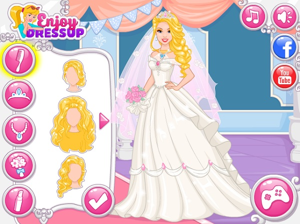 game Thiet ke vay cuoi cho cong chua Barbie