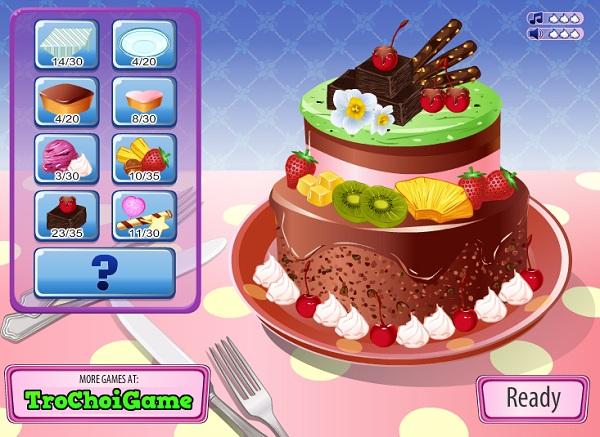 game Trang tri banh kem sinh nhat 3 tang