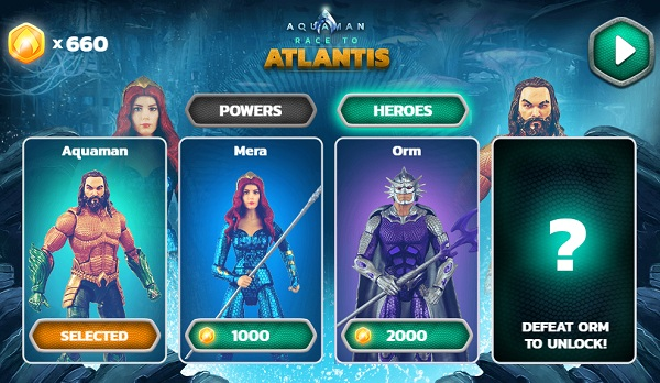 game Aquaman De vuong Atlantis online