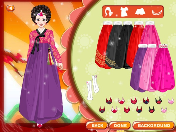 game Thoi trang Han Quoc hanbok