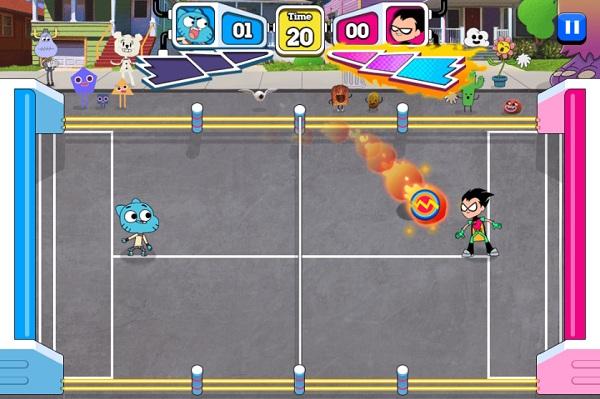 game Gumball tran dau nem dia super disc duel 2