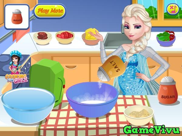 game Elsa lam banh pizza hinh anh 2
