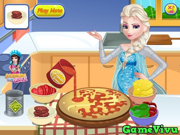 game Elsa lam banh pizza hinh anh 3