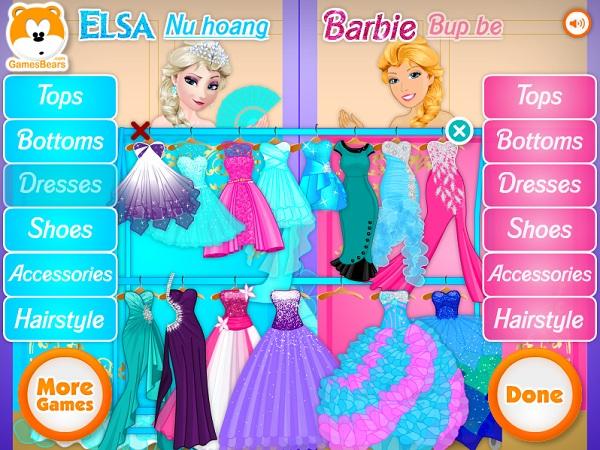 game Elsa vs Barbie 2 hinh anh 1