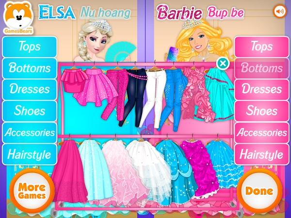 game Elsa vs Barbie 2 hinh anh 2