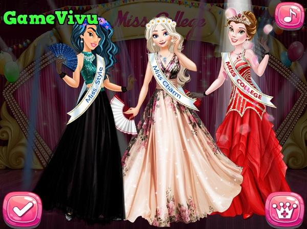 game Cong chua Disney thi hoa hau miss world