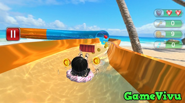 game Truot phao cong vien nuoc 3D hinh anh 1