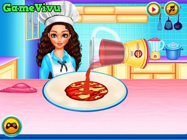 game Lam banh pizza xuc xich hinh anh 1