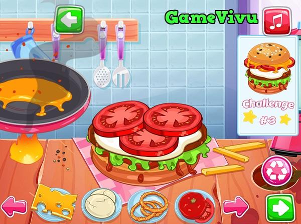 game Cuoc thi lam banh hamburger hinh anh 1