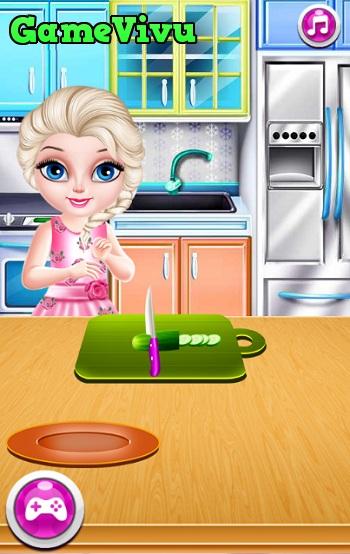 game Elsa lam sushi hinh anh 2