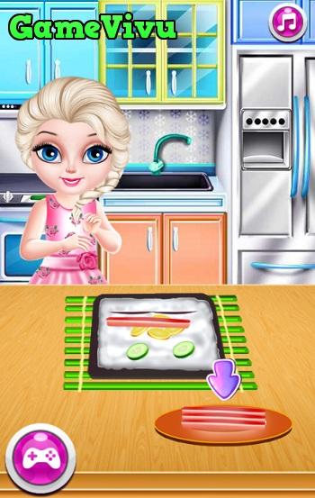 game Elsa lam sushi hinh anh 3