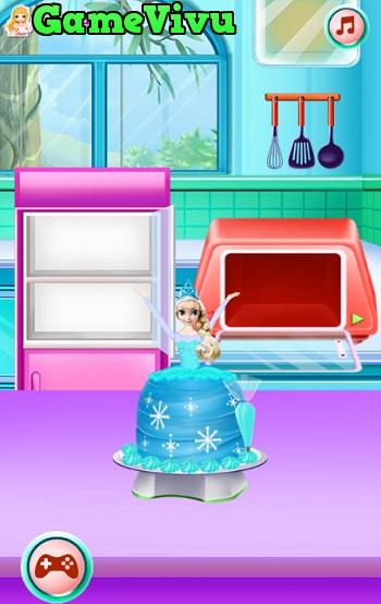 game Lam banh sinh nhat Elsa va Anna hinh anh 2