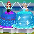 Làm bánh sinh nhật Elsa và Anna
