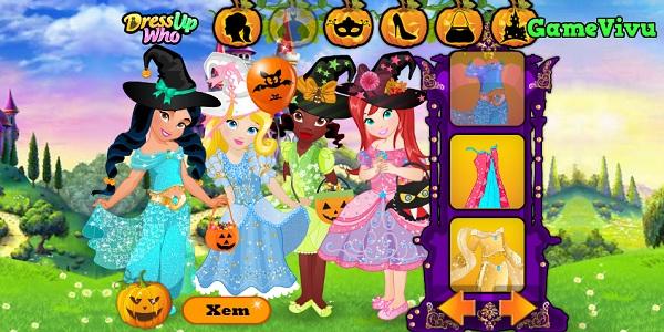 game Cong chua hoa trang Halloween hinh anh 1