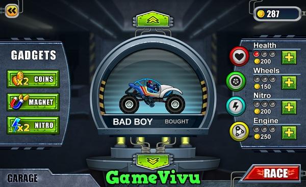 game Dua xe quai vat 3 monsters wheels special