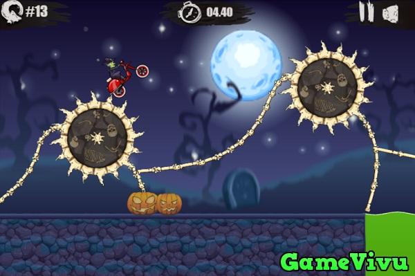 game Moto X3M 6 vung dat ma quai spooky land