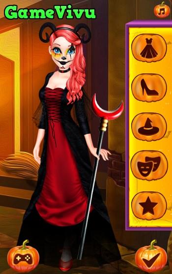 game Thoi trang Halloween cho cong chua hinh anh 3