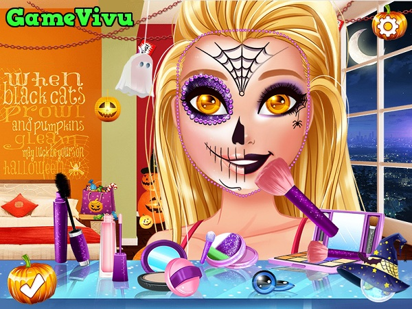 game Trang diem Halloween kinh di hinh anh 1