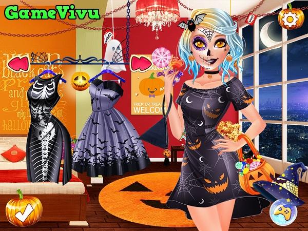 game Trang diem Halloween kinh di hinh anh 2