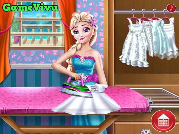 game Cong chua Elsa giat quan ao hinh anh 3