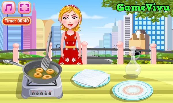 game Lam banh Donut chien hinh anh 2