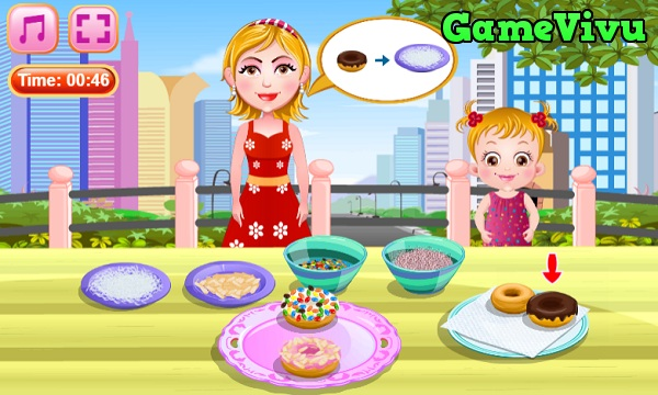game Lam banh Donut chien hinh anh 3