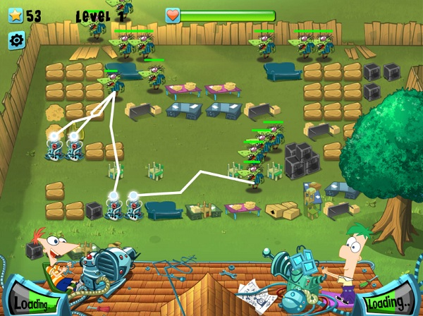 game Phineas And Ferb bao ve khu vuon hinh anh 1