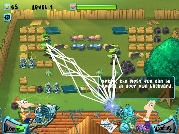 game Phineas And Ferb bao ve khu vuon hinh anh 2