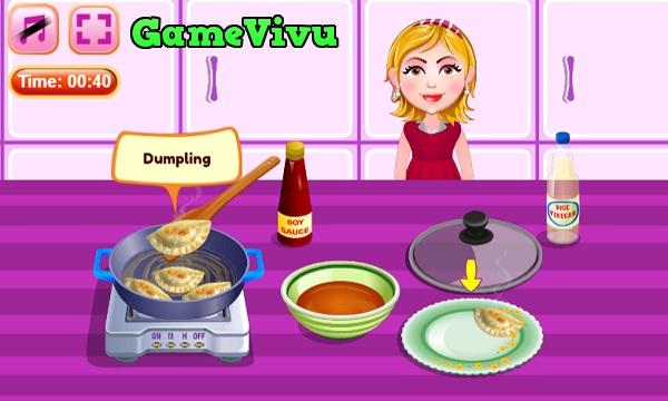 game Lam sui cao Nhat Ban japanese dumplings