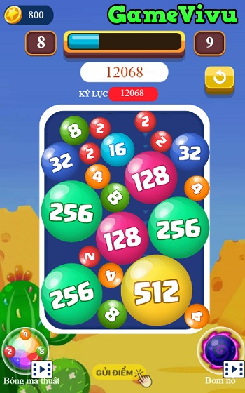 game Tha bong 2048 hinh anh 3