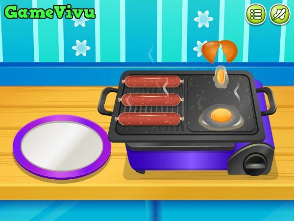 game Lam banh hot dog hinh anh 1