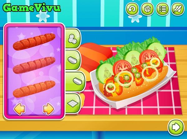 game Lam banh hot dog hinh anh 3