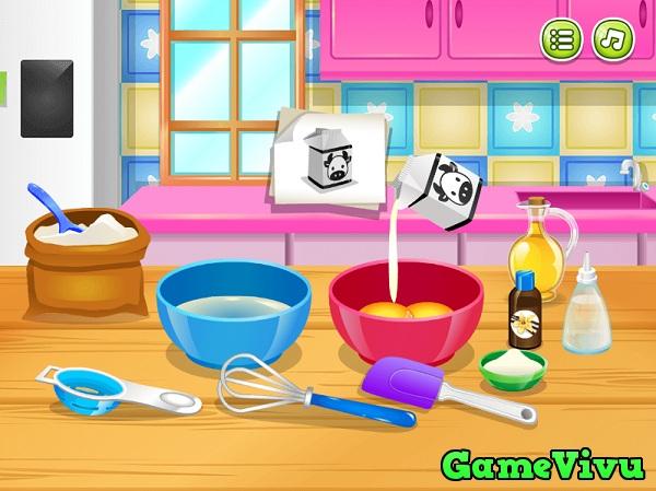 game Lam banh pancake kem tuoi hinh anh 1