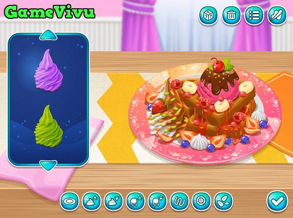 game Bánh quế kem tươi hình ảnh 3