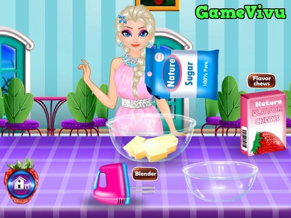 game Elsa lam banh sinh nhat hinh anh 1