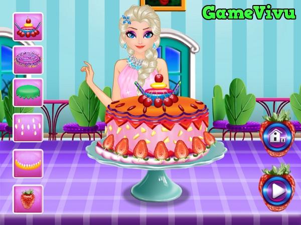 game Elsa lam banh sinh nhat hinh anh 3