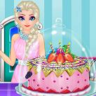Elsa làm bánh sinh nhật