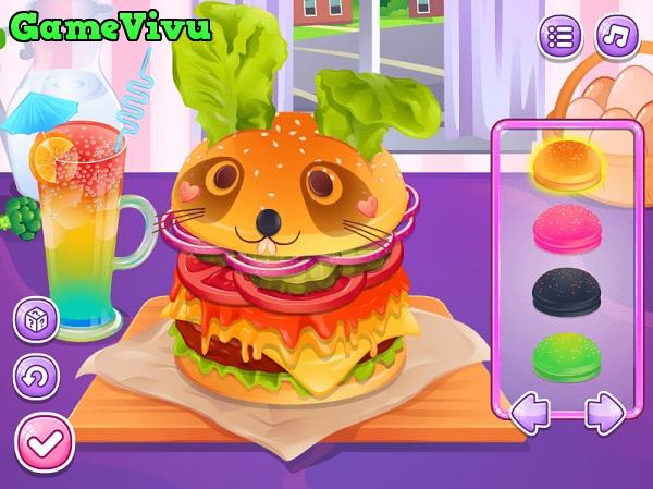 game Làm bánh hamburger dễ thương hình ảnh 3