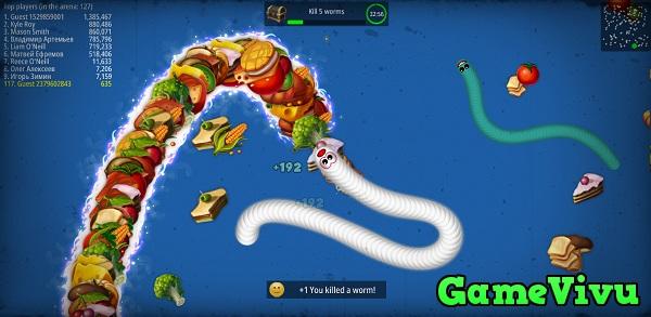 game Vùng giun đất.io - rắn phàm ăn