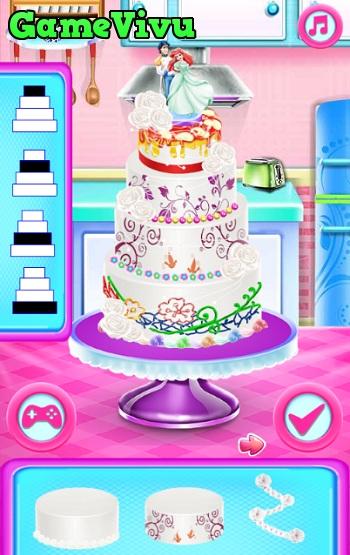 game Ariel làm bánh cưới hình ảnh 3