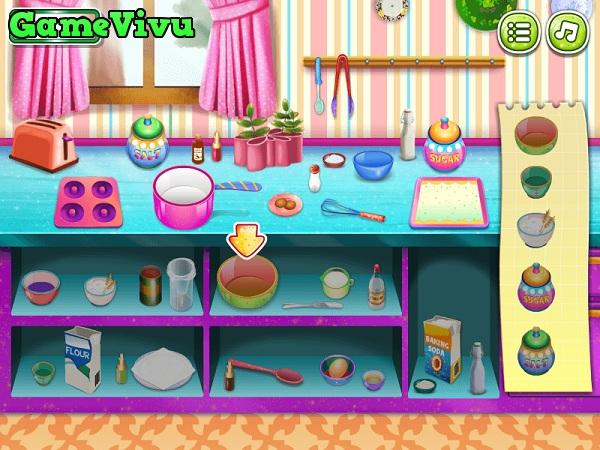game Làm bánh Donut kem tươi hình ảnh 1